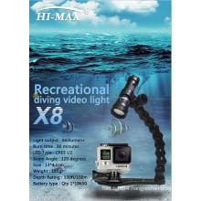 Factory Price 1000 Lumens scuba underwater diving video light