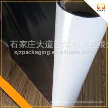 Schwarze, weiße undurchsichtige Polyester-Kunststoff-Folie