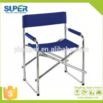 Mobiliário de exterior cadeira de diretor dobrável de alumínio