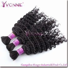 Fashion Deep Wave Brazilian Remy Hair Bulk (HT2-HD-BH3A-DW)