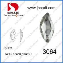 S форма горный хрусталь ювелирные изделия бусины для шитье ткань (ДЗ-3064)