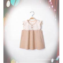 Belle robe de fille en coton biologique avec un design de mode de la Chine
