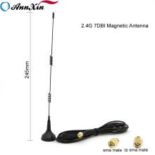 Antena magnética superior del azote del resorte de la calidad 2.4G 7dBi Wifi con el cable RG174