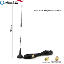 TOP Quality 2.4G 7dBi Wifi Spring Whip Magnetic Antenna With RG174 Cable
