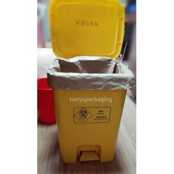 Sac à déchets en papier Kraft pour poubelle