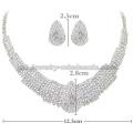 Drop Shape Gemstone Glass Stone Wedding Necklace