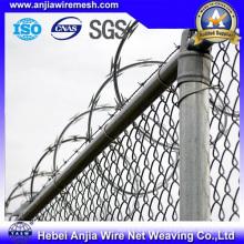 Высокопрочный оцинкованный ПВХ с покрытием из колючей проволоки для защиты