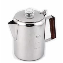 Cafeteira de aço inoxidável para camping