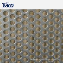 tôles perforées en acier inoxydable / galvanisé, panneau perforé, plaque perforée