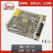 Fonte de alimentação de comutação de 60W 12V (SMPS) para iluminação de tira LED