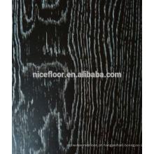 Desenho de carboneto Piso de madeira de engenharia de três camadas
