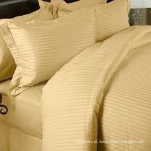 Tampa da edredão da listra do damasco do algodão de 1cm