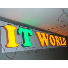 Señalización personalizada de letras acrílico LED