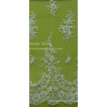 Tela de bordado com contas em laço de roupa interior feminina Vestido de casamento nupcial para casacos 52 '' No.CA001B