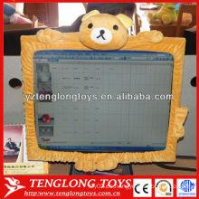 Funda de pantalla de computadora de peluche Cubierta de pantalla de decoración de forma de oso de dibujos animados