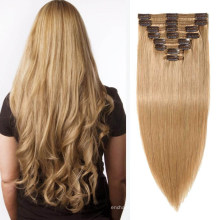 Brazilian Hair Extensions Clip-in Hair Silky 22inches Human Virgin Remy Hair Extensions