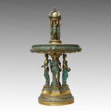 Бронзовый скульптурный фонтан из бронзы Статуя богини-латуни, Milo Tpls-041