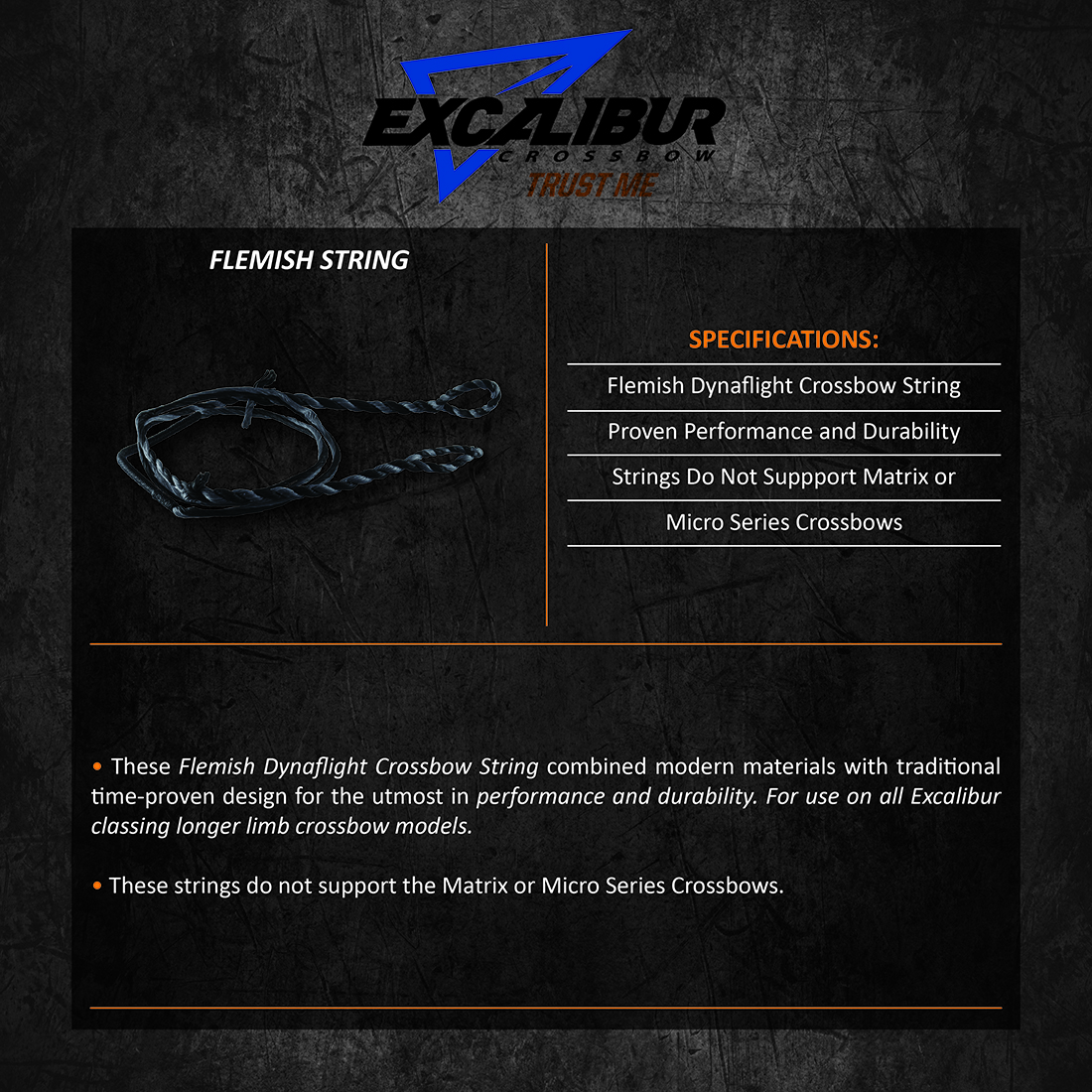 Excalibur_Flemish_String_Product_Description