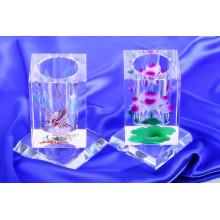 Modische Kristallbürstenhalter, drehen Stift stehen Crystal Pen Holder