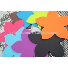 Coaster de forma personalizada de silicone, coaster de seleção de cores