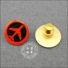 Spezielles Design Revers Pin, rundes bedrucktes Abzeichen (GZHY-LP-023)