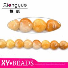 15 mm amarillo Natural ágata rebordea por mayor joyas de piedras preciosas