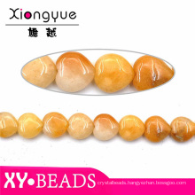15mm Yellow Natural Agate Beads Wholesale Gemstone Jewellery