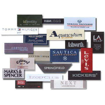 Etiquetas de roupas tecidas de personalizado