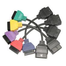 para FIAT ECU exploración adaptadores OBD Cable de diagnóstico de cinco colores