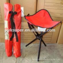 Outdoor cadeira pequena dobrável, cadeira de pesca dobrável