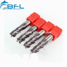BFL Flachboden-Schaftfräser-Fertigung, Vollhartmetall-Vierkantschaft-Vierkantschaft mit langem Schaft