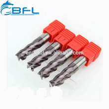 BFL Flat Bottom End Mill Manufacture,Solid Carbide 4 Flutes Square End Mill Long Shank