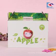 benutzerdefinierte gewellte Obst Apfel Verpackung Geschenkbox