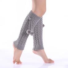 Moda acrílica malha pernas calças meias cobrir perna