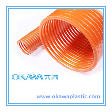 China Factory PVC Suction Hose with Orange Helix