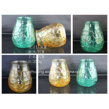 Glass Craft Honeycomb Shaped Colorful Candle Glass Jar Candle Holders