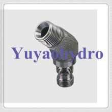 Edelstahl Hydraulikteile Stecker 45 Deg Stecker