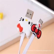 Super Cute Cartoon USB Line pour téléphone portable