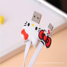Super Cute Cartoon USB Line for Mobile Phone