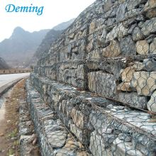 Rock Basket Wire Mesh / Australien Woven Gabion Box Price