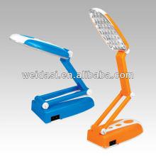 nwe design! led lâmpada de leitura recarregável com 31 led