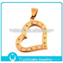 2016 современный стильный полый сердце ожерелье ювелирные изделия любовь Сердце кулон с кристаллами