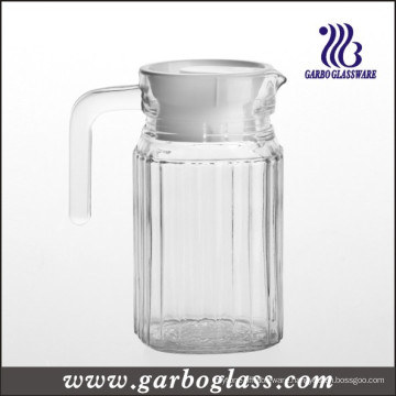 0.5L Clear Glass Jug with White Cover (GB1102H-1)