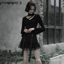 PUNK OPQ-608BQF RAVE flower girl sexy bridesmaid summer mesh plus size vintage evening wholesale black skirt