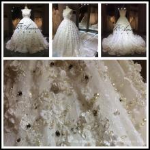 2017 Moyen-Orient VENTE CHAUDE Robe de mariée à laine en dentelle de luxe à perles de luxe 3D Tiamero 1A056