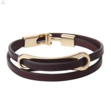 Printemps Saison Mode Nouveau Style Personnalité T Fermoir Femmes Cuir Wrap Bracelet
