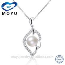 Fancy kleine Süßwasser Perle Anhänger chunky Aussage Halskette
