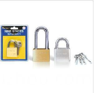 Heavy Duty Square Type Solid Brass Leaves Padlock