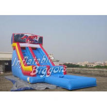 Indoor Residential Blue Inflatable Water Slide For Birthday