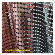 Bon marché décoratif / acier inoxydable / maille de rideau en métal (ISO)
